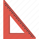 design, math, right angle, ruler, set square icon