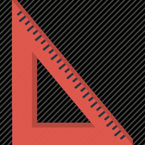 design, math, right angle, ruler, set square icon
