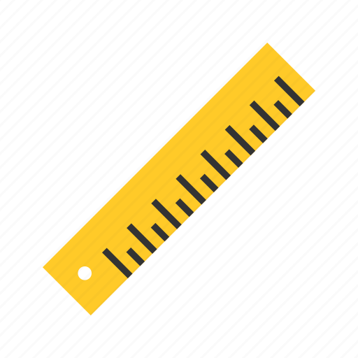 geometry, measurement, ruler, scale icon