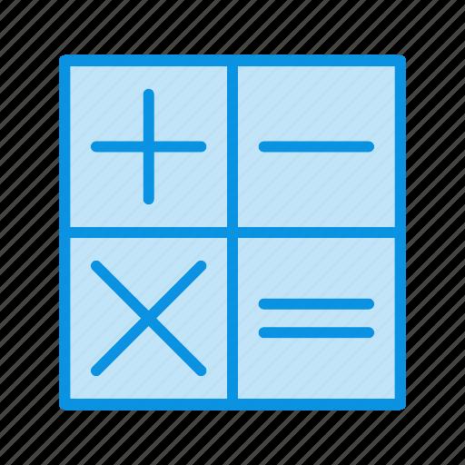 calculating, calculator, digital icon