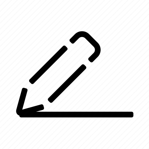 line, outline, pencil, school icon