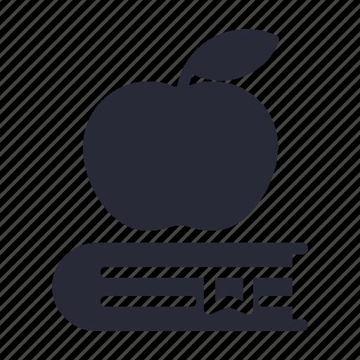 apple, book, bookmark, education, study icon