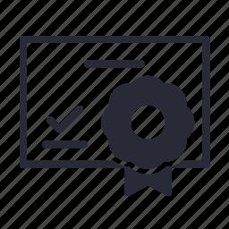 certificate, reward icon