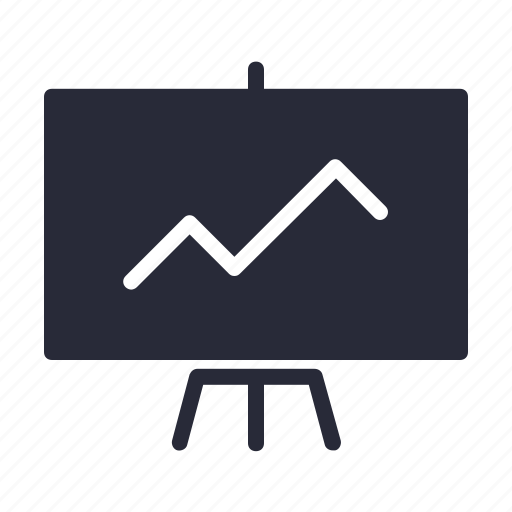 blackboard, education, lecture, presentation icon