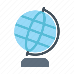 education, geography, globe, map, planet, world icon
