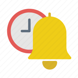 bell, clock, schedule, time icon