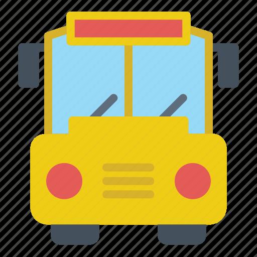 bus, education, school, transport, transportation, vehicle icon