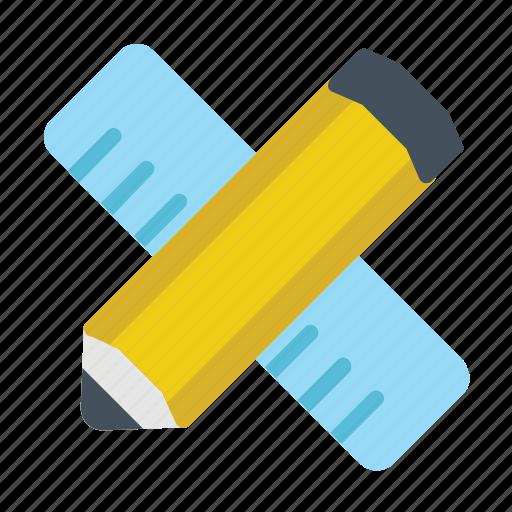 pencil, ruler, write icon