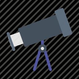 astronomy, lens, stargazing, telescope icon
