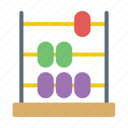 abacus, math, mathematics icon