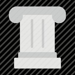 column, creative, greek, pillar, roman icon