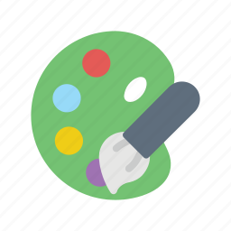 art, brush, paint, palette icon