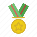 gold, honor, medal, reward, trophy icon