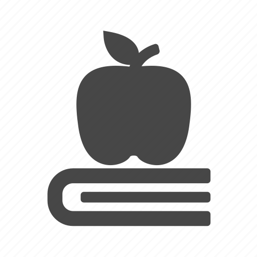 apple, book, education, knowledges icon