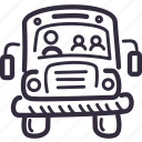 bus, education, school, schoolbus, transport icon