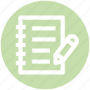 .svg, doc, document, file, page and pencil, paper, sheet icon