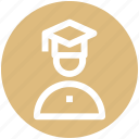 .svg, degree, graduation, man, people, profession, student icon