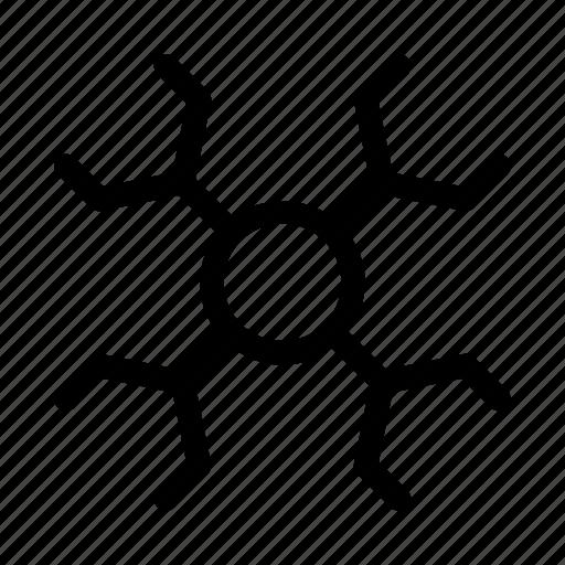 education, learning, molecule, university icon