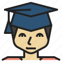 bachelor, education, graduated, learning, student, university icon