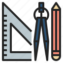 circus, draw, education, geometry, math, scale icon