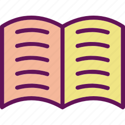 book, open book, page icon