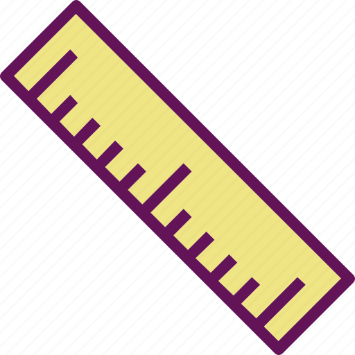 centimeter, inch, ruler icon
