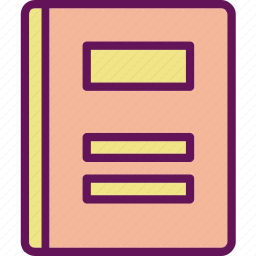 book, note, notebook icon