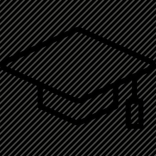 cap, graduation, mortarboard icon