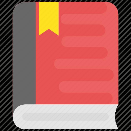 book, book with bookmark, education, knowledge, wisdom icon