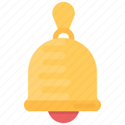 alert, bell, ding dong, hand bell, retro bell icon