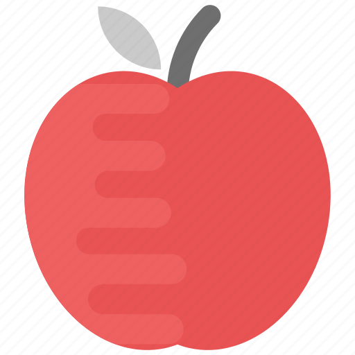 apple, food, fruit, natural diet, red apple icon
