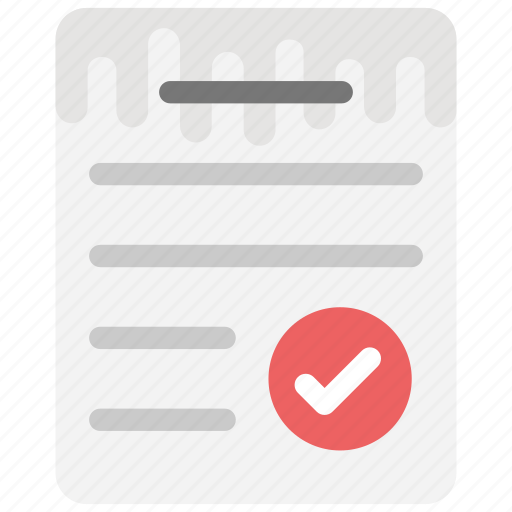approved document, attested document, document authentication, document with check mark, file approved icon