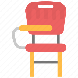 desk chair, school furniture, seat, student chair, students furniture icon
