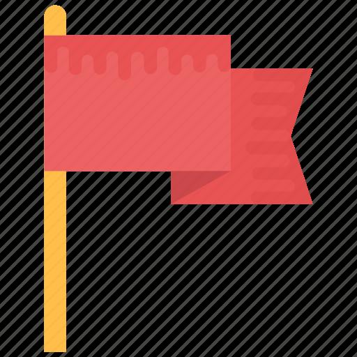 Ensign, flag, flag pole, fluttering flag, table flag icon - Download on Iconfinder