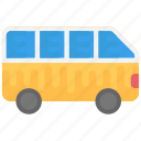bus, tour bus, transport, van, vehicle icon