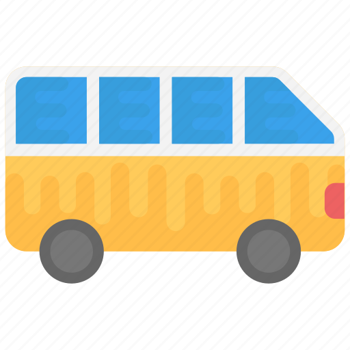 bus, tour bus, transport, van, vehicle icon