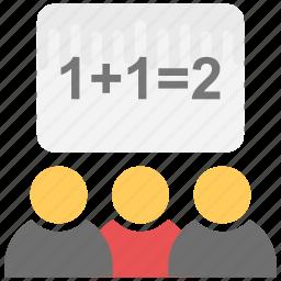 classroom, education, maths class, study, training icon