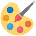 art, canvas, paint brush, paint palette, painting icon