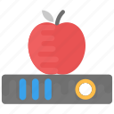 back to school, apple on book, apple education, learning, education concept icon