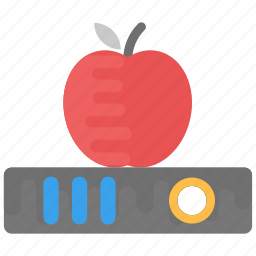 apple education, apple on book, back to school, education concept, learning icon