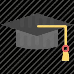 academic cap, bachelor, graduate, graduation cap, mortarboard icon