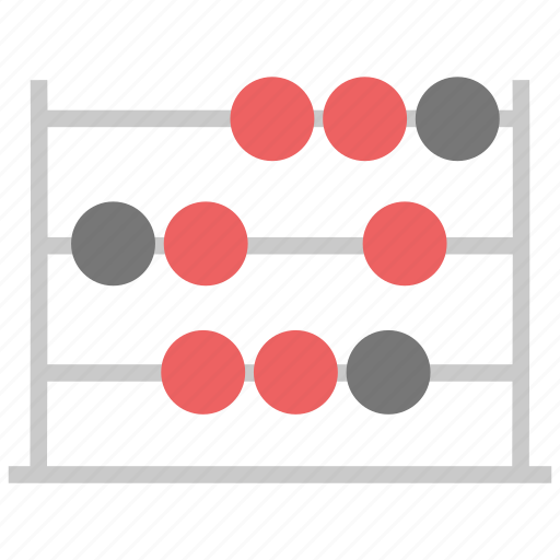 abacus, accounting, calculating, calculating frame, retro mathematics icon