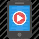 mobile devices, mobile media, mobile media app, online entertainment, online media icon