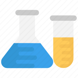 conical flask, lab flask, lab glassware, laboratory, test tubes icon