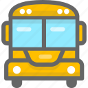 bus, education, school bus, student icon