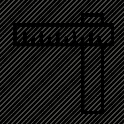 corner, degree, measure, round, ruler, size icon