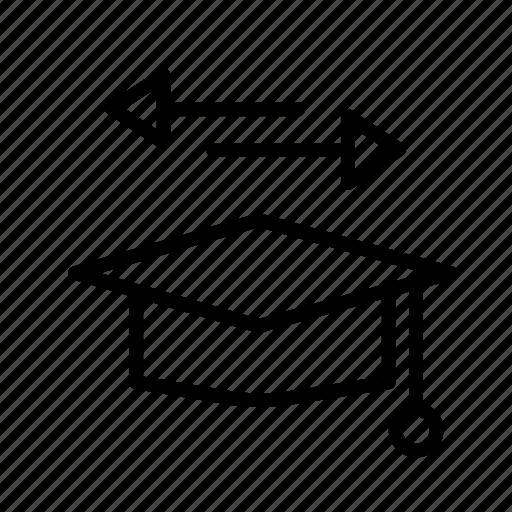 graduation, hat, option, people, student, user icon