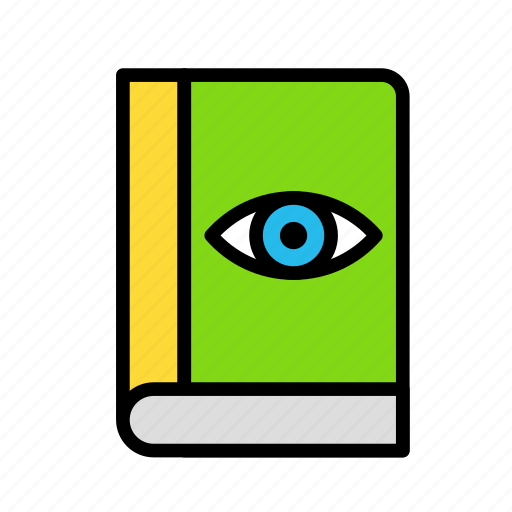 anatomy, book, education, eye, learn, study, vision icon