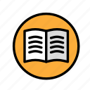 book, educate, education, learn, office, read, study icon