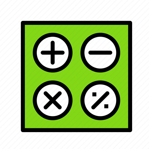 calculator, desk, office, pc, workspace icon